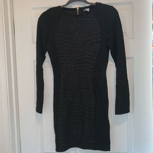 Divided bodycon dress